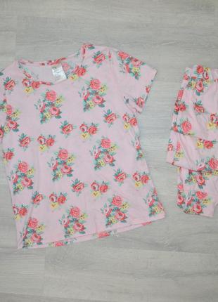 Пижама из хлопка h&m