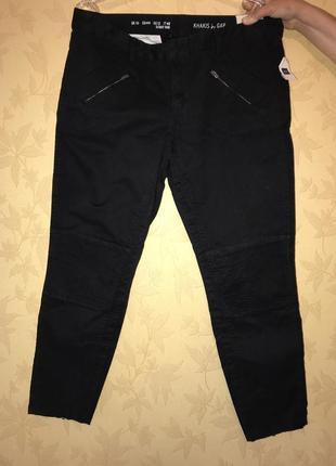 Стильные женские новые чёрные джинсы khakis by gap