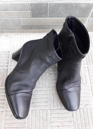 38 р. hogl кожаные элегантные демисезонные ботинки