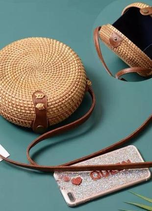 Солом'яна сумка виконана з соломи 🌻