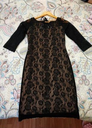 Эфектное платте с открытой спиной