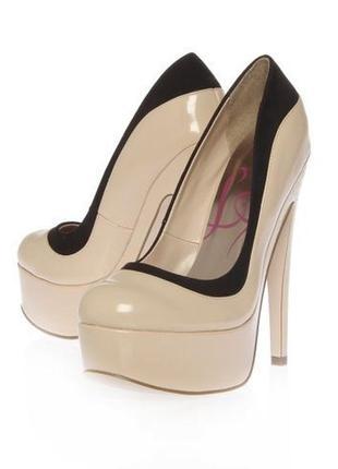 """Нюдовые туфли на высоком каблуке с платформой """"lipsy"""" simone"""