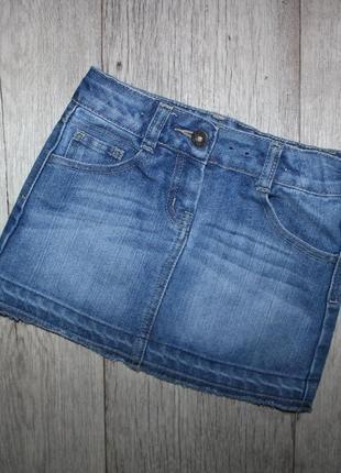 Юбка джинсовая george 6-7 лет, рост 116-122 см.
