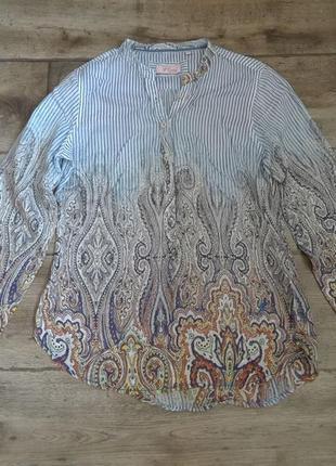 Миленькая батистовая немецкая блузка рубашка emily van den bersh massimo dutti