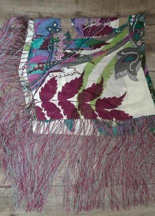 100% шелковый японский платок echo. шов рауль. оригинал