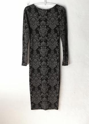 Стрейчевое облегающее платье
