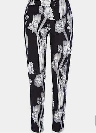 1+1=3 стильные узкие брюки штаны с узором river island, размер 42 - 44