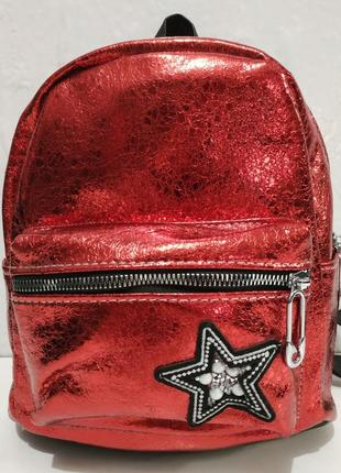 Женский городской рюкзак (красный) 19-06-005