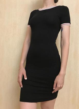 Черной платье / стиль casual