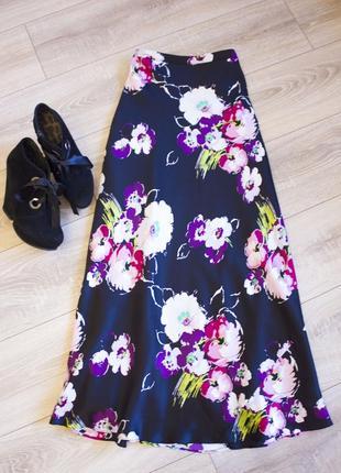 Шелковая юбка в пол от laura ashley