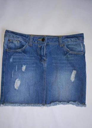 Короткая джинсовая юбка на девочку 11-12 лет,denim co