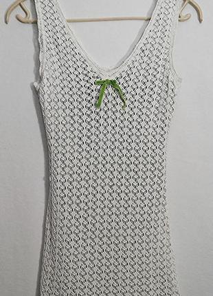 Blumarine, платье белое короткое, made in italy