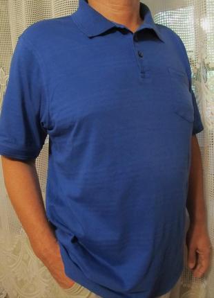 Мужская футболка поло maine new england  р. 50/52 100% cotton
