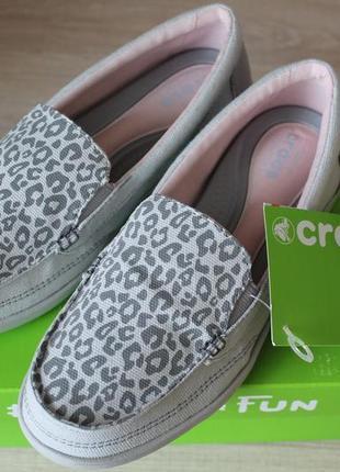 Лоферы мокасины crocs, оригинал из сша, размер w6