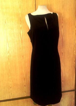 Черное платье с открытой спинкой, 2xl-3xl.