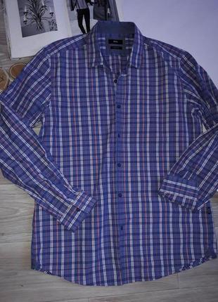 Hugo boss рубашка в клетку  сток оригинал.