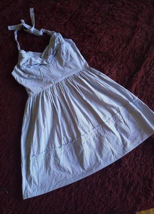 Отличный сарафан платье коттон в полоску