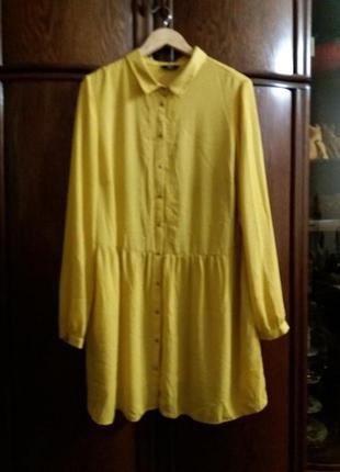 Яркое платье-рубашка f&f-20р
