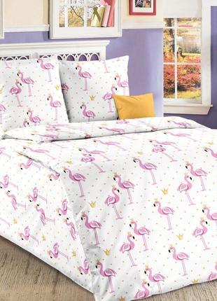 Розовый фламинго - детское постельное белье из 100% хлопка