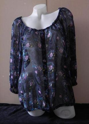 Блуза шифоновая