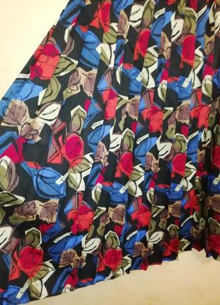 Шикарный винтажный костюм из чистой шерсти плиссированная юбка р.м8 фото