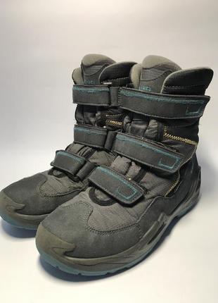 Детские зимние термо мембранные ботинки lowa milo gtx