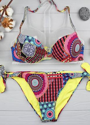 """!!!sale!!! стильный купальник 70b низ s от tezenis (расцветка """"afro chic"""")"""