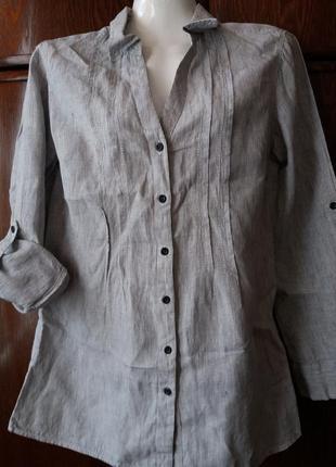 Рубашка-m&s--12р-14 р лен-100%