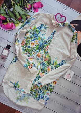 Шикарная рубашка в цветы