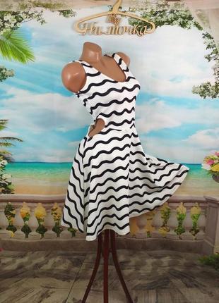Платье с вырезами из креп-дайвинга, s
