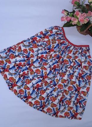Натуральная юбка клеш kiabi