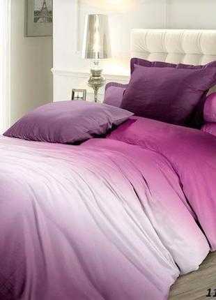 Сатин омбре вишневый сорбет - эксклюзивное постельное белье