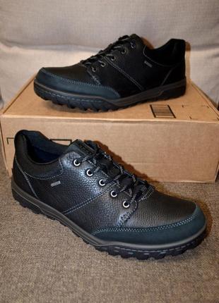 Кожаные трекинговые кроссовки ботинки ecco goran