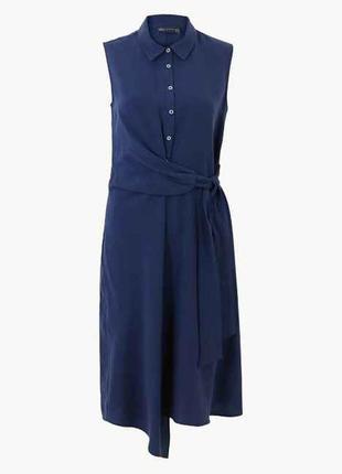 Оригинальное асимметричное платье-рубашка миди