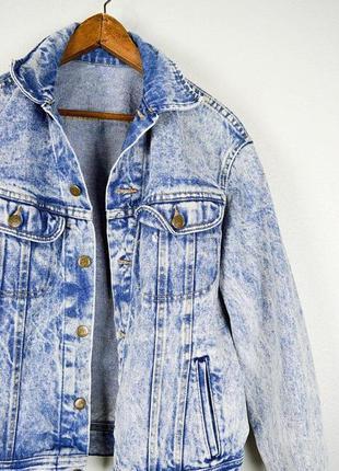 Джинсовая куртка джинсовка вареный джинс варенка 90 е оверсайз