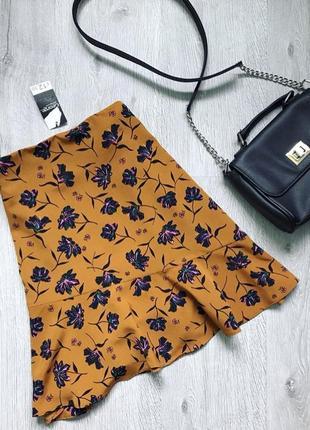 Легкая юбка в цветочный принт
