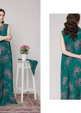 Зеленое летнее платье в пол anna yakovenko