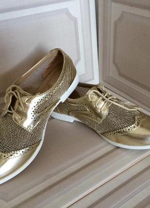 Женские ботинки оксфорды