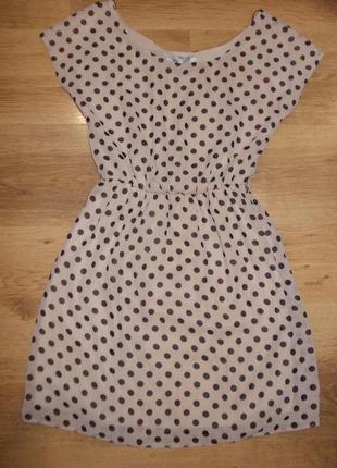 Платье в горох шифоновое размер s-8 наш 42