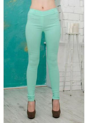 Мятные джинсы скинни джеггинсы размер xs-6