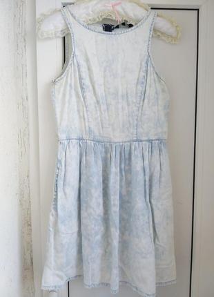 Летний джинсовый сарафан платье new look
