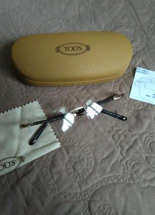 Новая имиджевая оправа tod's made in italy очки 100% оригинал
