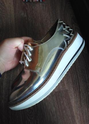 Жіночі туфлі лофери зара, женские туфли zara