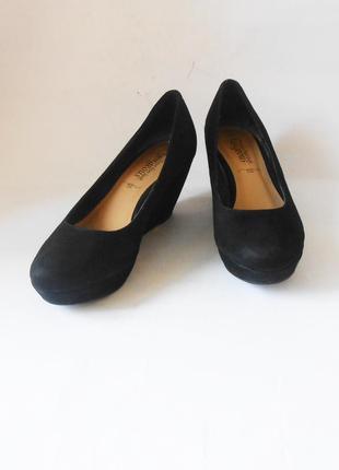 Фирменные туфли на танкетке new look, р.38 код k3818
