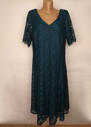 Платье шикарное кружевное большой размер оригинал joanna hope uk 18/46/xxl