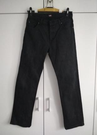 Черные мужские джинсы lee