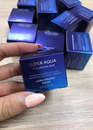 Крем для зволоження шкіри missha super aqua ultra hyalron cream 5мл