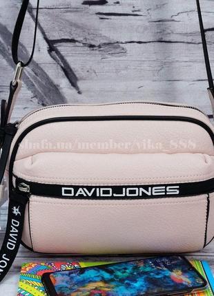 Клатч, сумка через плечо кросс-боди david jones 5989 розовый