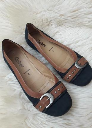 Кожаные туфли gabor 36 размер