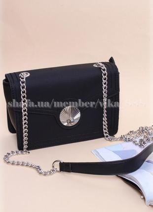 Клатч, сумка через плечо кросс-боди david jones 5129 черный